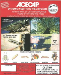 Acecap AC1210 Systemic Insecticide 3/8 Tree Implants Pack of 10