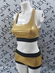 **new**Gold diamond dust racer top
