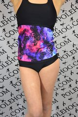 Pink/blue watercolour lace backwarmer