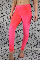 Coral smooth velvet leggings