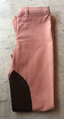 Pink Cord Jods with Brown Knee Patches