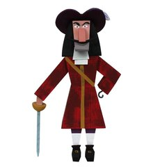 Captain Hook wood idol