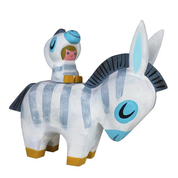 zebra y zebrito burro resin set-sold out