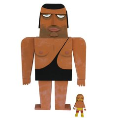Andre the Giant wood idol