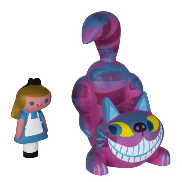 Cheshire Cat and Alice-SOLD OUT