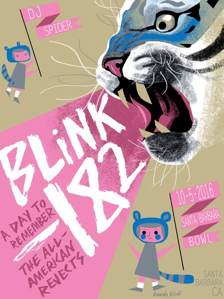 Blink 182 tour poster-alternate version