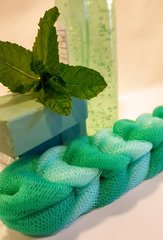 The MiNT Shack Body Mint Green Nylon Spa Shower Body Scrubber