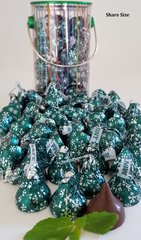 The Mint Shack Hershey's Dark Chocolate Mint Truffles Candy Kisses Tins