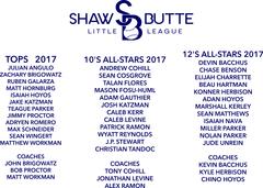2017 SBLL Tops -12's -10's