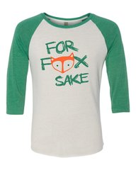 For Fox Sake Baseball Tee