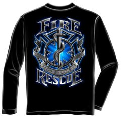 Long Sleeve Fire Rescue T-Shirt