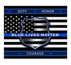 Thin Blue Line Fleece Blanket | THF2293-TB