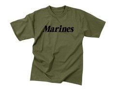 Olive Drab Military Physical Training T-Shirt | Marines | 60157