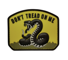 PVC MORALE PATCH - YELLOW DON'T TREAD