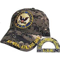 US NAVY LOGO DIGITAL CAMO CAP