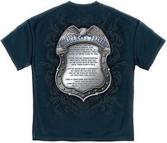 Policeman's Crome Badge With Policeman's Prayer T-Shirt