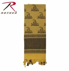 Rothco Gadsden Snake Shemagh Tactical Desert Scarf