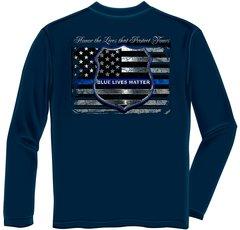 Long Sleeves T-Shirt Blue Lives Matter | THF2293LS