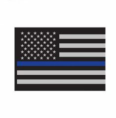 Thin Blue Line Flag Decal