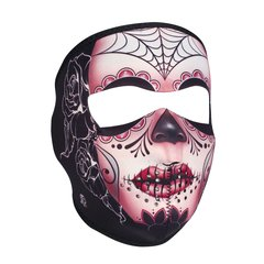 Neoprene Full Face Mask - Sugar Skull