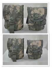 LOT OF 4 -US Military Surplus Army ACU Camo Hand-Grenade Multi Pocket Pouch EUC