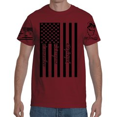 Gun Monkey's R.E.D Flag Red T-Shirt