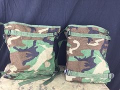 LOT OF 2 - ARMY SURPLUS RADIO POUCH / BAG MOLLE II WOODLAND CAMO NEW