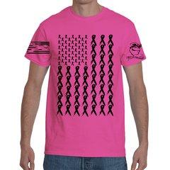 Gun Monkey's Ribbon Flag Pink T-Shirt