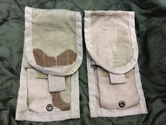 Molle II Double Mag Pouch | DCU Desert Camo 8465-01-515-7562 | Lot of 2 | USED