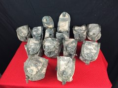LOT OF 12 US Military Surplus Army ACU Camo Hand-Grenade Multi Pocket Pouch EUC