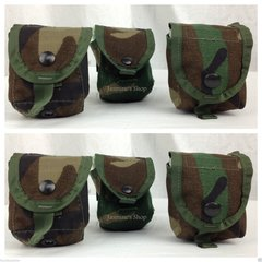 LOT OF 6 POUCHES - US Military Woodland Camo Multipurpose Grenade Pouches NEW