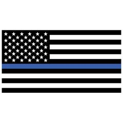 USA Flag/Thin Blue Line Decal 10-482