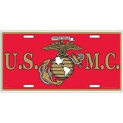USMC LICENSE PLATE   LP0550