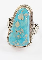 Dry Creek Turquoise Silver Ring