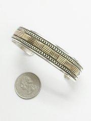 14K-Gold Over Silver Navajo Bracelet