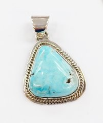 Small Dry Creek Turquoise Silver Pendant