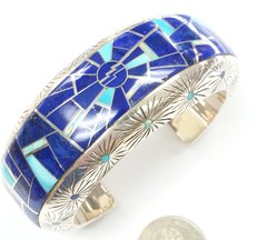 Silver Bracelet inlay with Sleeping Beauty Turquoise