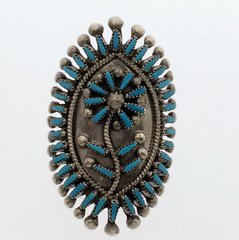 Zuni Indian Ring with Turquoise