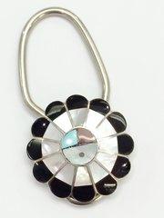 Zuni Sun Face Key Chain