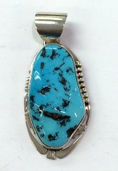 Navajo Turquoise Silver Pendant