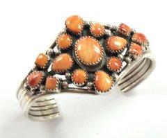 Orange Spiny Oyster Navajo Bracelet