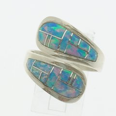 Rainbow Lap Opal Silver Ring