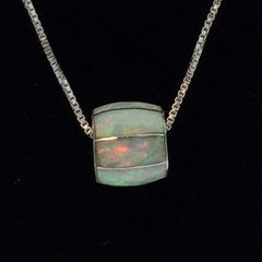 Lab Opal Inlay Necklace