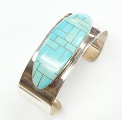 Silver Bracelet with inlay Sleeping Beauty Turquoise