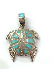 Turquoise Turtle Pendant By Mike Perry