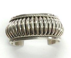 Silver Navajo Bracelet by Thomas Charley