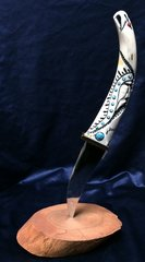 Knife carved with Indian Head