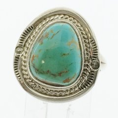 Navajo Green Turquoise Ring