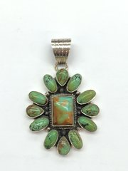 Green Nevada Silver Beautiful Med Pendant