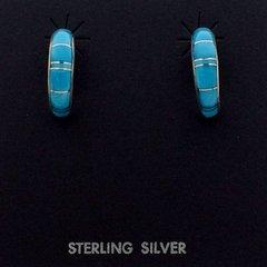 Turquoise Hoop Earring.
